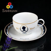 2头咖啡杯碟(英国女皇))